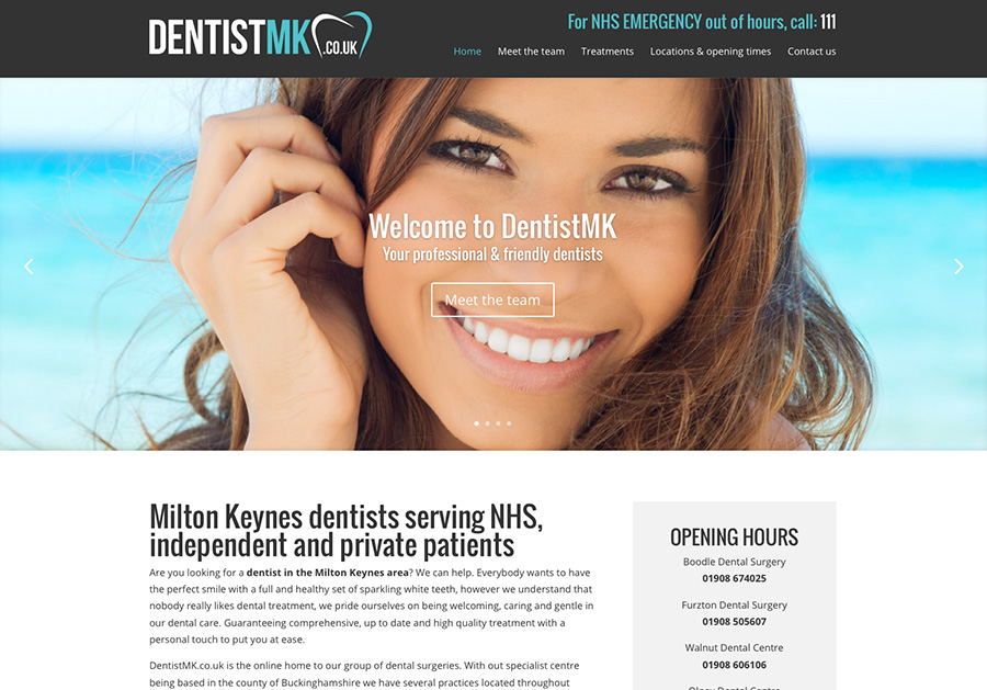 Milton Keynes dentist website